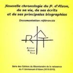 Cahier n°10 : Nouvelle chronologie du Père d'Alzon