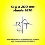 Cahier n°2 : Il y a 200 ans - année 1810